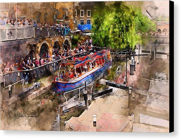 Saturday Afternoon at Camden Lock - Canvas Print
