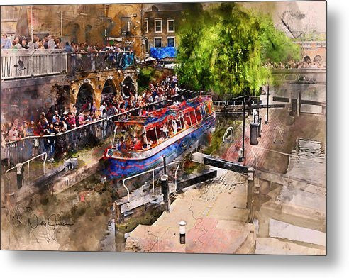 Saturday Afternoon At Camden Lock - Metal Print