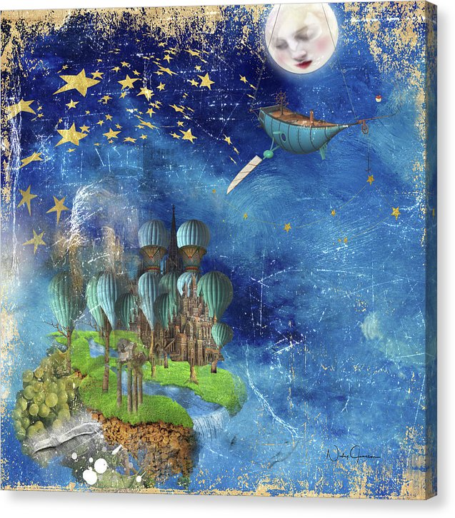 Starfishing In A Mystical Land - Canvas Print