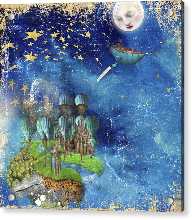 Starfishing In A Mystical Land - Acrylic Print