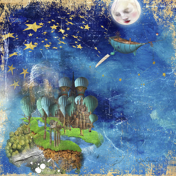 Starfishing In A Mystical Land - Art Print
