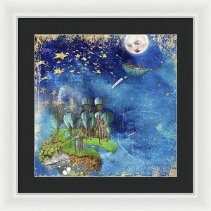 Starfishing In A Mystical Land - Framed Print