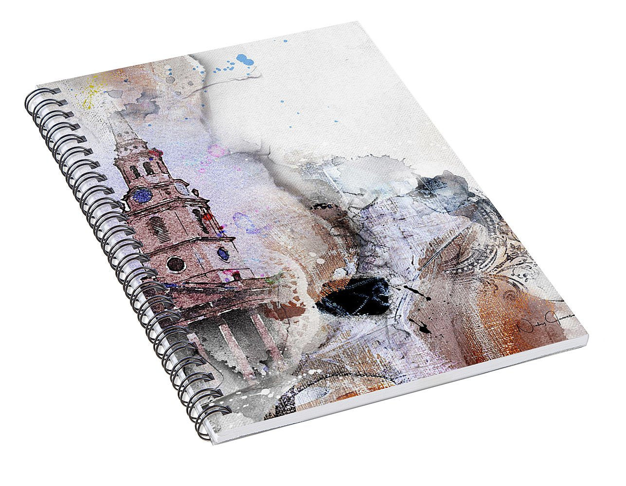 Steeple - St Martin's in the Field - Spiral Notebook