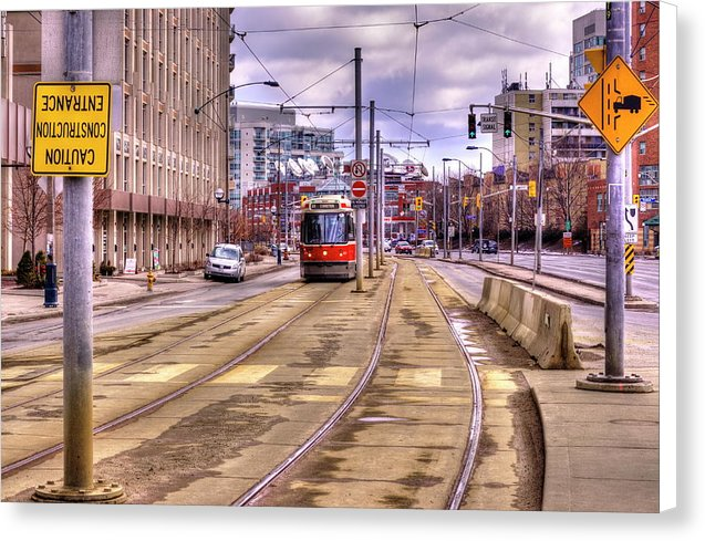 Streetcar And Sign - Canvas Print