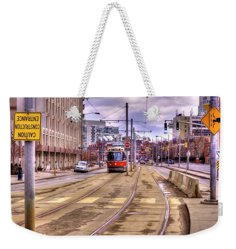 Streetcar And Sign - Weekender Tote Bag