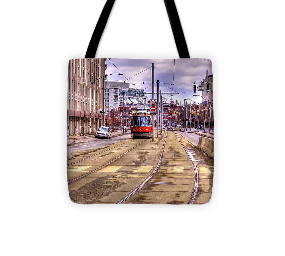 Streetcar And Sign - Tote Bag