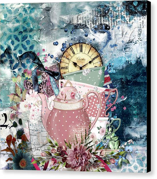 Tea Time Collage - Canvas Print
