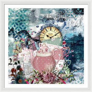 Tea Time Collage - Framed Print