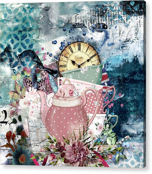 Tea Time Collage - Acrylic Print