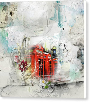 Red Telephone Across Miles - Canvas Print