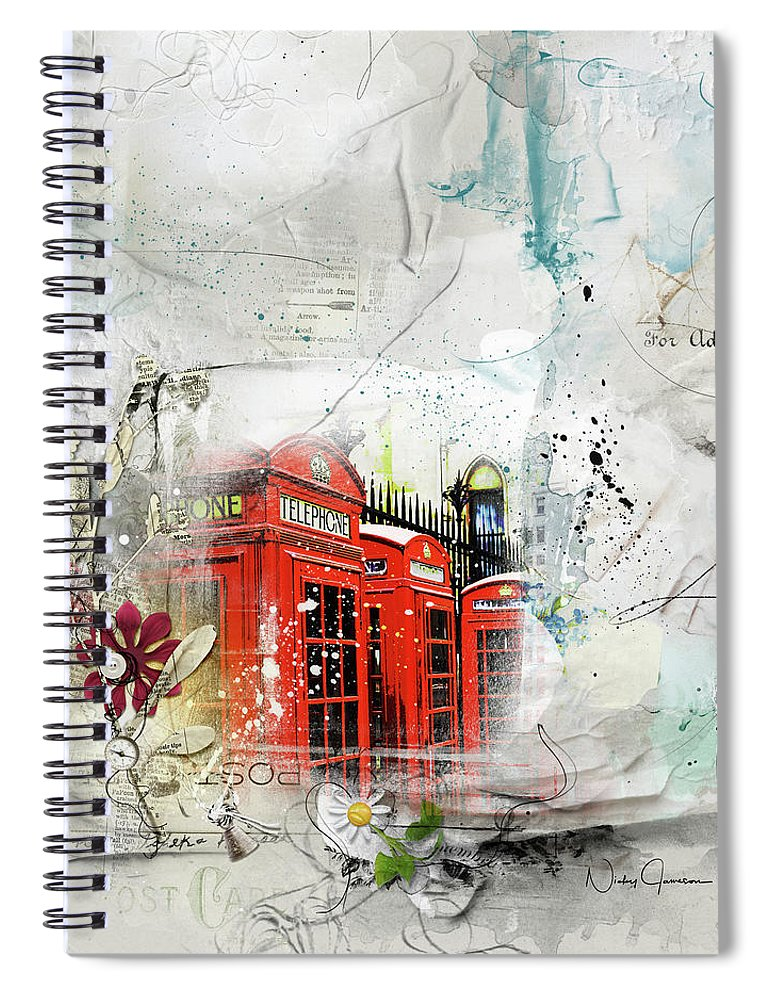 Telephone Across Miles - Spiral Notebook