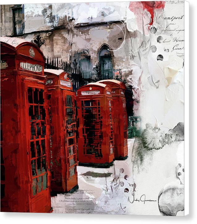 London Telephone Boxes - Canvas Print
