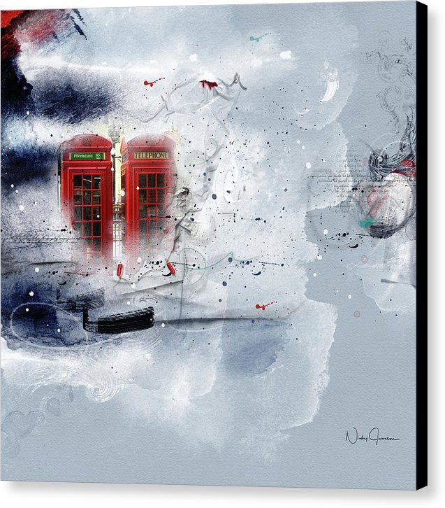 Red telephone box by Nicky Jameson