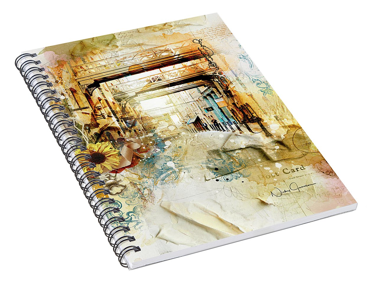 Thames Path-Back In Time - Spiral Notebook