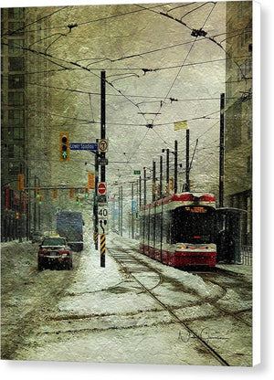 That Day It Snowed 1 - Canvas Print