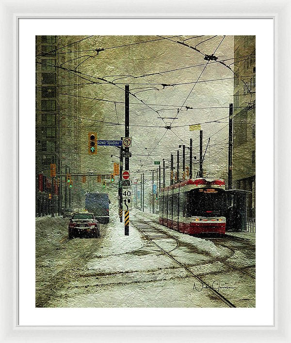 That Day It Snowed 1 - Framed Print