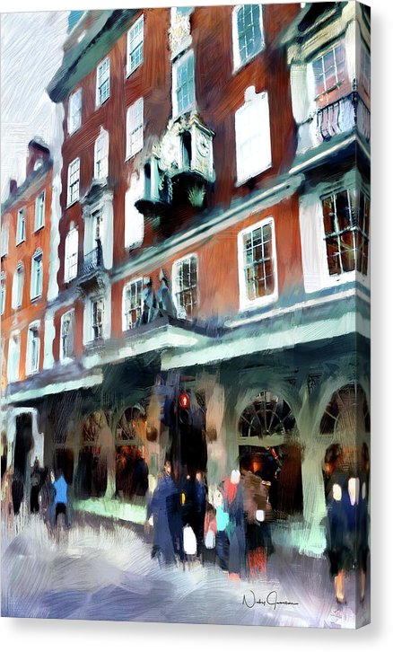 The Grocer - Fortnum And Mason - Canvas Print