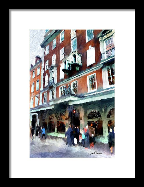 The Grocer - Fortnum And Mason - Framed Print