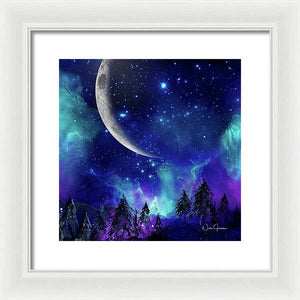 The Heavens - Moon Cycle - Framed Print