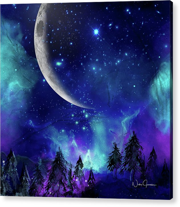 The Heavens - Moon Cycle - Acrylic Print