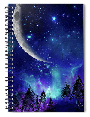 The Heavens - Moon Cycle - Spiral Notebook