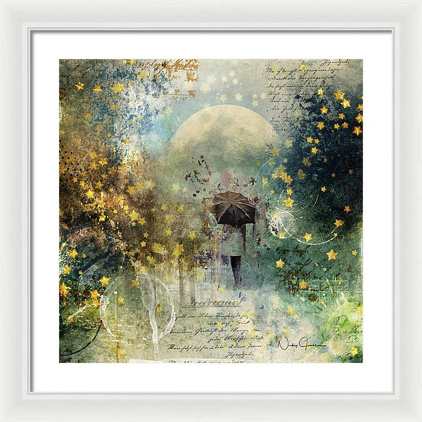 The Stars Fall Down - Framed Print