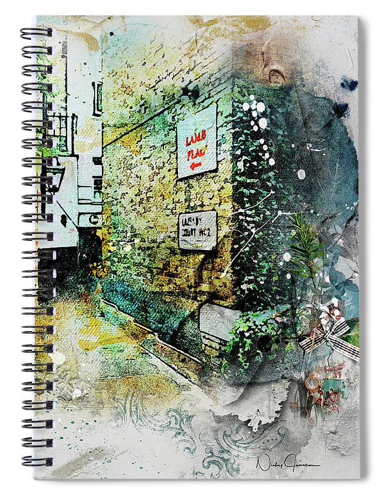 This Way to Lamb and Flag - Spiral Notebook
