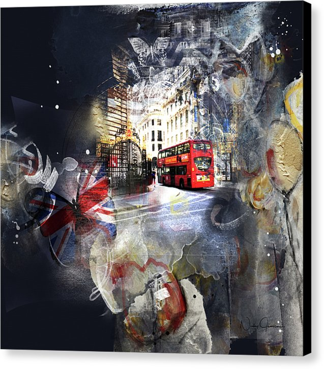 Time To Go - London Canvas Print