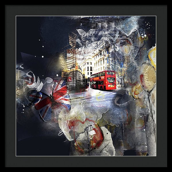 Time To Go - London Framed Print