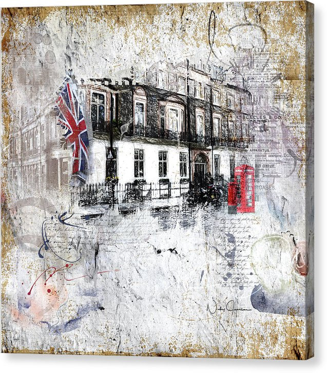 Timeless Street in Russell Square - Canvas Print