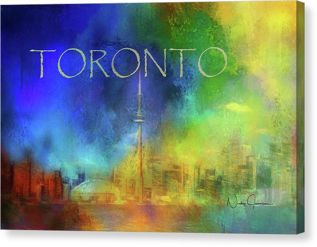 Toronto Skyline Cityscape Abstract Canvas Print