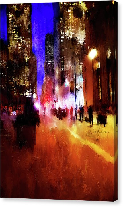 Toronto Downtown Impressions - Canvas Print