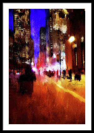 Toronto Downtown Impressions - Framed Print