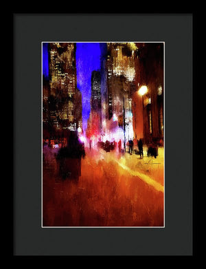 toronto downtown impressionist art framed