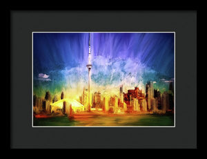 Toronto skyline painting by Nicky Jameson