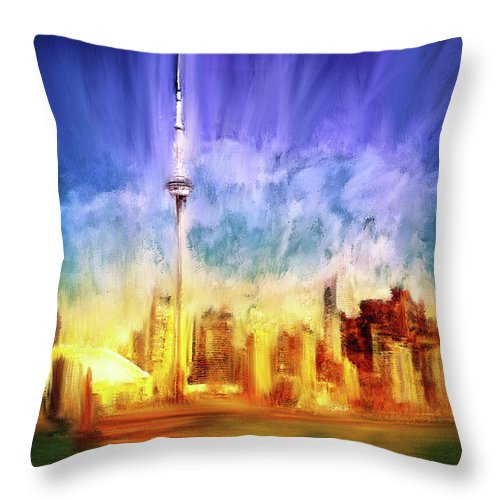 Toronto Skyline - Throw Pillow