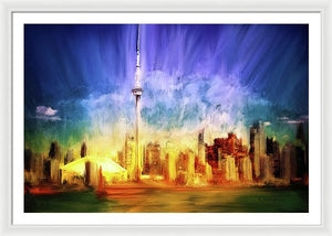 Toronto Skyline at Night - Framed Print
