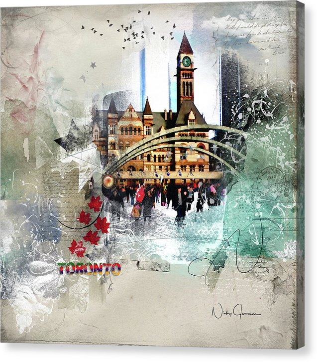 Toronto Skating - Canvas Print