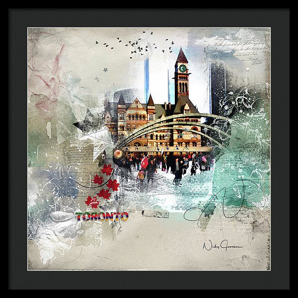 Toronto Skating - Framed Print