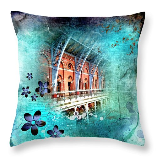 Travelling Times - St Pancreas - Throw Pillow