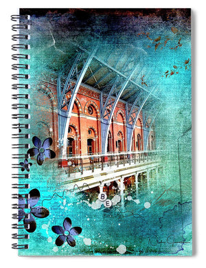 Travelling Times - St Pancras International - Spiral Notebook