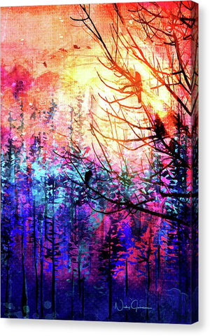 Trees at Sunrise - Canvas Print