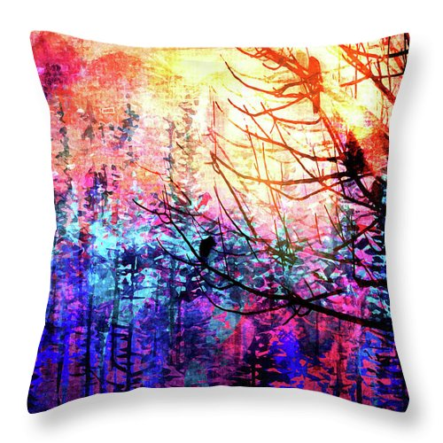 Trees at Sunrise - Throw Pillow