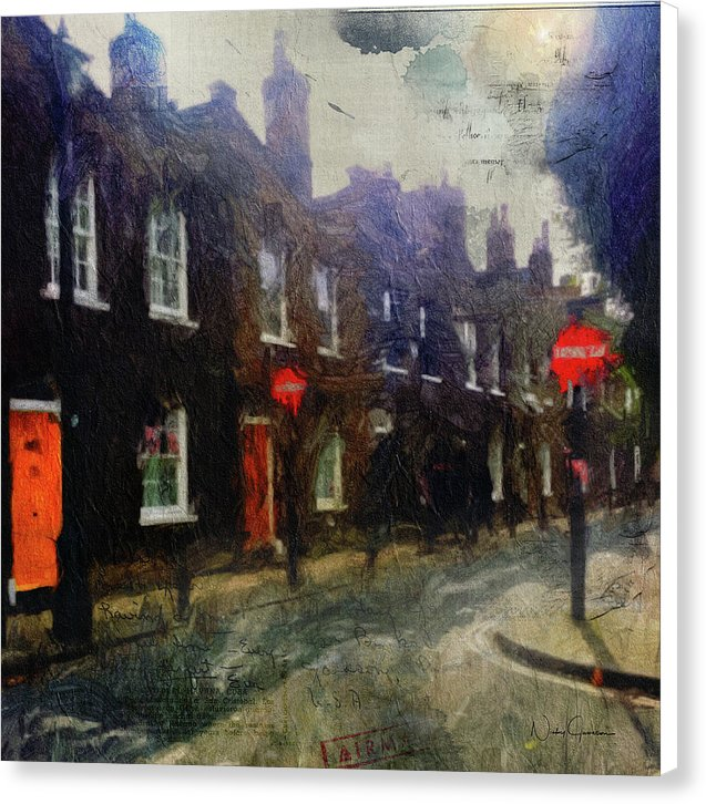 Two Up Two Down -  Traditional British House Canvas Print