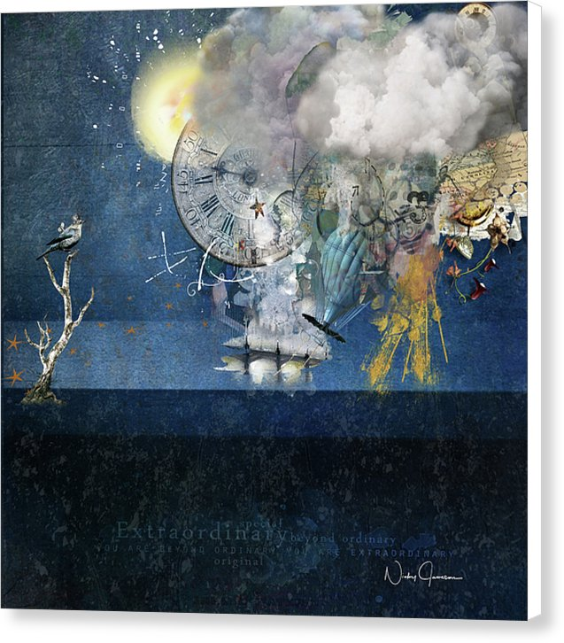 Up In The Clouds Collage - Canvas Print