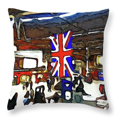 Victoria Station - Throw Pillow
