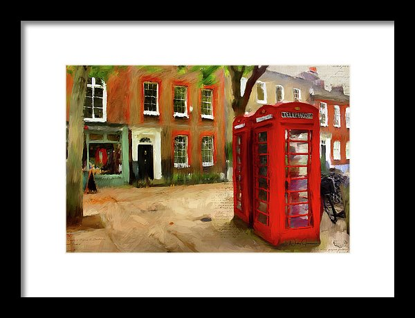Village Green At Richmond - Framed Print