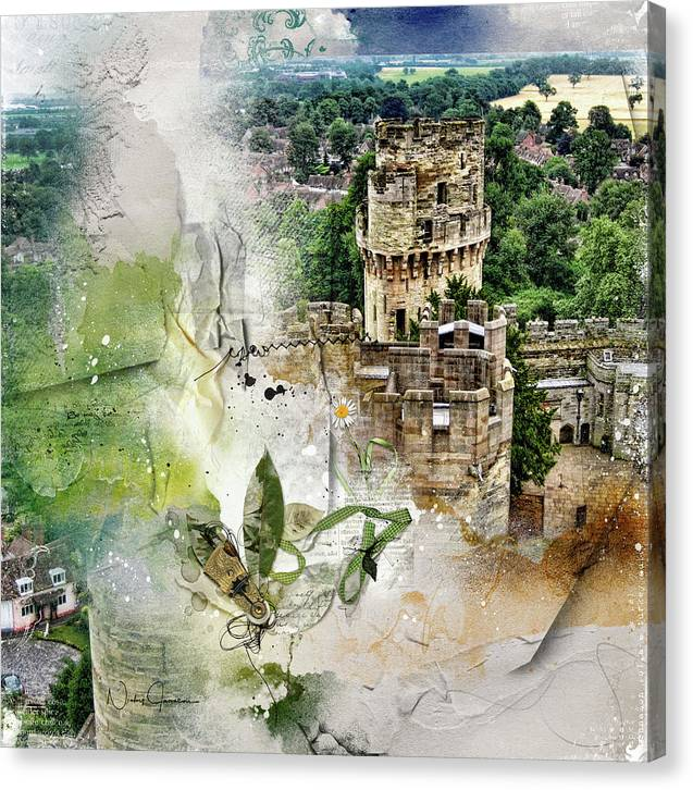 Warwick Castle from Caesar's Tower - Canvas Print