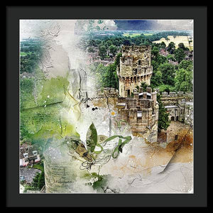 Warwick Castle from Caesar's Tower - Framed Print