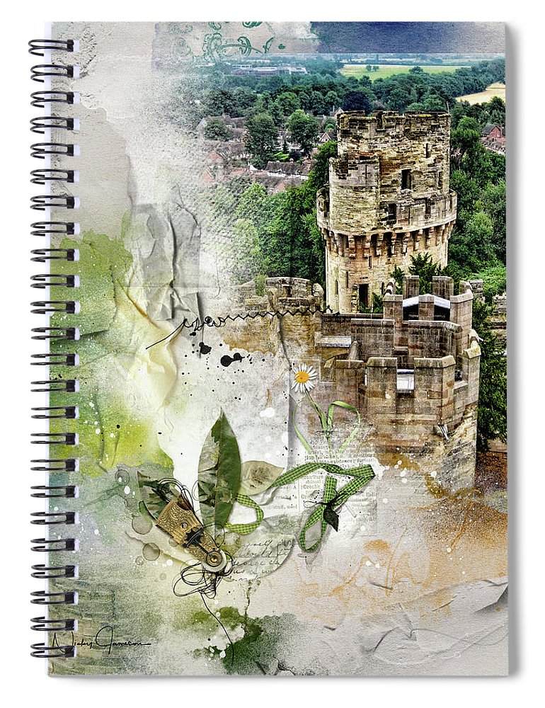 Warwick Castle from Caesar's Tower - Spiral Notebook